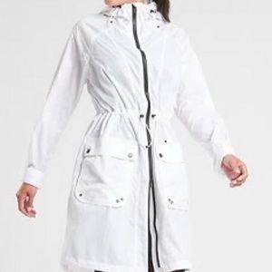 Athleta White Medium Recycled City Slicker Jacket